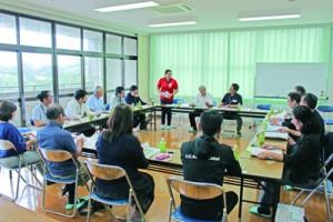 情報共有と連携で社会貢献活動などの強化に向け話し合った設立会=14日、龍郷町