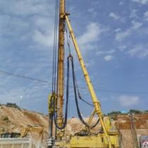 事業の完了まで残り3年を切った地下ダム工事(1工区)=5月8日、知名町余多