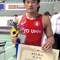 男子フリースタイル79㌔級で準優勝した川畑孔明(提供写真)