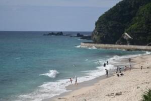 9年連続で「AA」評価を受けた奄美市の大浜海浜公園=29日、奄美市名瀬
