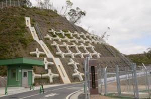 陸上自衛隊瀬戸内分屯地にある火薬庫地区の入口=3月、瀬戸内町節子