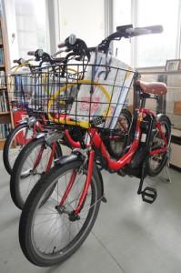 加計呂麻島で貸し出している電動アシスト付き自転車