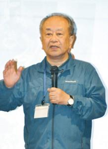 講演した食環境ジャーナリストの金丸弘美氏