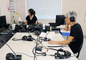 難聴地域解消のための補助金が交付されるエフエムたつごうの放送スタジオ