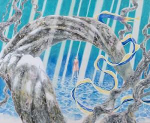 田中一村記念美術館賞に選ばれた亀井文さんの「光の帯」