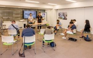 龍郷町が東京で初めて開催した地域おこし協力隊募集説明会=6日、東京有楽町・交通会館