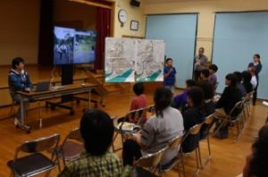 住民も参加して行われた野良猫調査の報告会=17日、奄美市名瀬大熊町