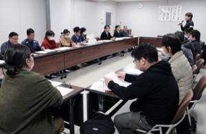 町内医療機関で情報を共有した新型コロナウイルス感染症対策会議=5日、瀬戸内町役場