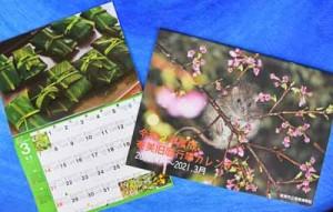 2020年度版奄美旧暦行事カレンダーのA4判(左)とA3判