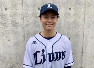 埼玉西武ライオンズ・レディースに入団した里投手(提供写真)
