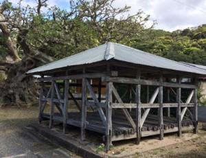 県文化財への指定が答申された瀬戸内町加計呂麻島のアシャゲ(上)と、中甫洞穴出土品(県教育委員会提供)