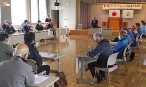 33回大会の延期を承認したトライアスロンIN徳之島大会の総会=13日、天城町役場