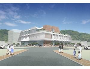 市民交流センターの完成予想図