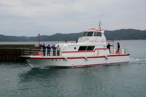 就航した4代目の救急艇「おおとり」=22日、瀬戸内町