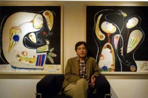 東京で個展を開いた高島さん=2008年