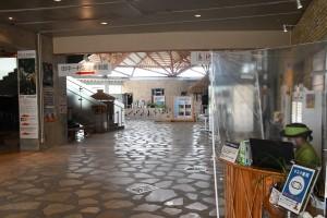 各種感染防止対策を施しながら営業再開も閑散とした県奄美パーク=16日、奄美市笠利町