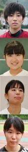 上から白畑美海さん、平愛海さん、村山涼乃さん、豊紅茉さん