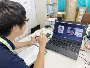 Web会議システムで3都府県の在住者から相談を受け付けた天城町の移住相談会=14日(提供写真)