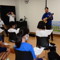 上演に向けて活動が始まった菊次郎ミュージカル=5日、龍郷町