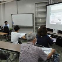 「FAAVO奄美群島」の開設を機に開催されたクラウドファンディング勉強会=20日、奄美市名瀬