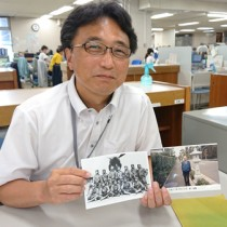 戦時中大和村に不時着した父・宰さんを知る人を探している越村さん(提供写真)