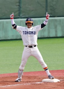 ドラフト会議で東京ヤクルトスワローズから4位指名を受けた元山選手(提供写真)