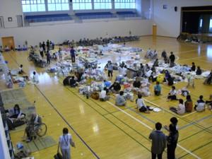 奄美豪雨災害時に避難所となった奄美体験交流館=2010年10月(奄美市提供)