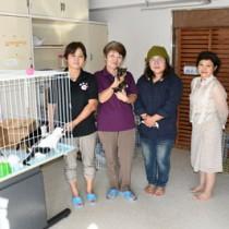 徳之島町内にペットの終生飼養普及啓発活動などの拠点を設けた「わんにゃんハートネットとくのしま」のメンバー