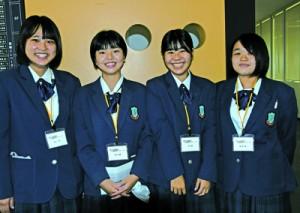 レシピを手掛けた(左から)青山さん、池田さん、南さん、高さん=18日、鹿児島市