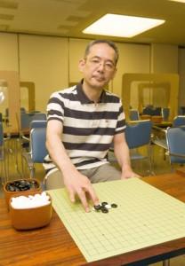 囲碁を通じた国内外での教育活動にも取り組む水間八段=日本棋院東京本院
