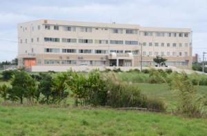 国立感染症研究所のモバイルラボが開設される予定の与論徳洲会病院=与論町茶花