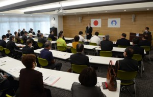 国体の23年開催などが報告された奄美市実行委=2日、同市名瀬