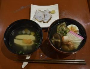 奄美の伝統的な儀式「三献」を取り入れたあらば食堂のランチ(一部)
