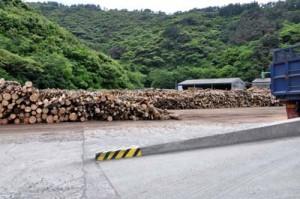 12月に閉鎖されることとなった宇検村のチップ工場(2011年4月撮影)