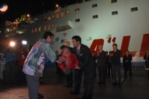 2018年から始まったマルエーフェリーの屋久島寄港。4月から金曜の名瀬港出港便に限定される