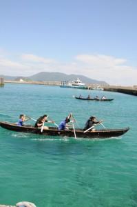 海上タクシーのライドシェアとドローン輸送の実証実験を予定している与路港=瀬戸内町