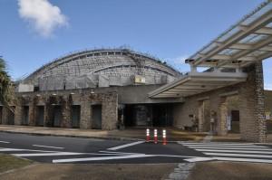 新型コロナの影響で入館者数が半減した県奄美パーク=9日、奄美市笠利町