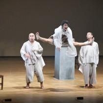 徳之島町で公演した「風野又三郎」=23日、同町亀津