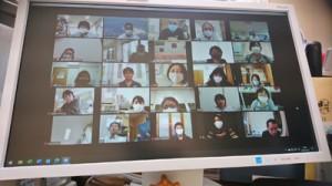 ウェブ上で開催した奄美大島地域介護サービス提供継続支援チームの新型コロナウイルス感染対策研修会=23日(同チーム提供)