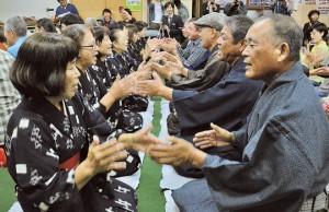 2020年に開かれた「節田マンカイ」=2020年1月、奄美市笠利町節田