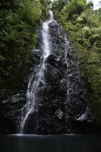 大男伝説が残る「トンジュウロウの滝」=8日、龍郷町