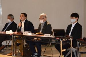奄美市内のクリエイターが携わった「奄美デジタル博物館事業」の制作発表=30日、奄美市名瀬
