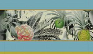 田中一村作品を図柄に採用する緞帳のイメージ図(奄美市提供)