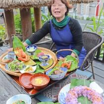 「食の背景にある物語も伝えていきたい」と語る恵上さん=12日、奄美市名瀬