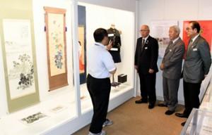 22日から始まった西郷菊次郎生誕160周年企画展「敬天愛人と菊次郎」=龍郷町
