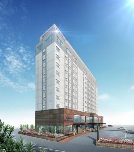 2022年末に開業予定のホテル・奄美サンプラザ(仮称)の完成イメージ図